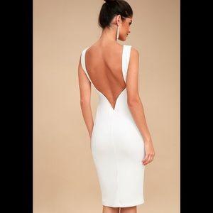 Lulus So Stunning backless midi - Make an offer!